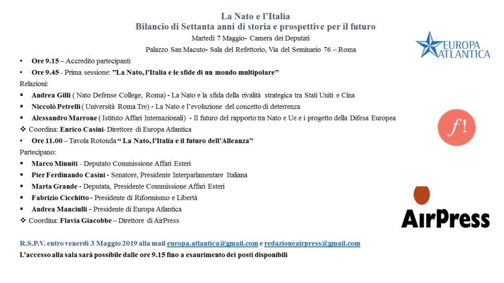 La NATO e l'Italia. Bilancio di settanta anni di storia e prospettive per il futuro