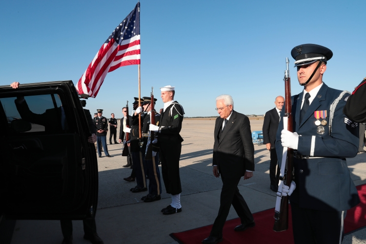 Il Presidente della repubblica Sergio Mattarella negli Stati Uniti
