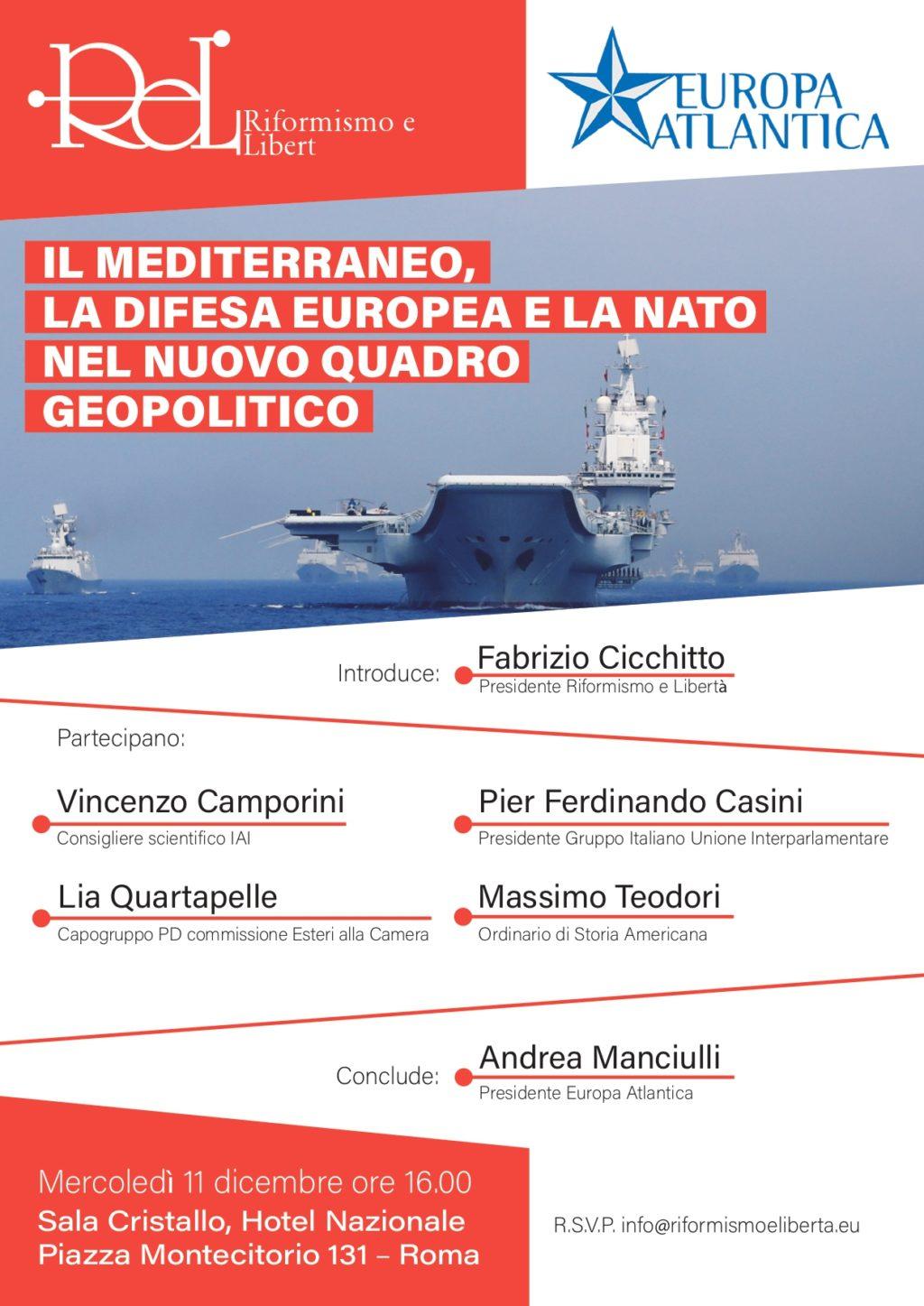 NATO, Europa e Mediterraneo. Il nuovo convegno di Europa Atlantica e ReL