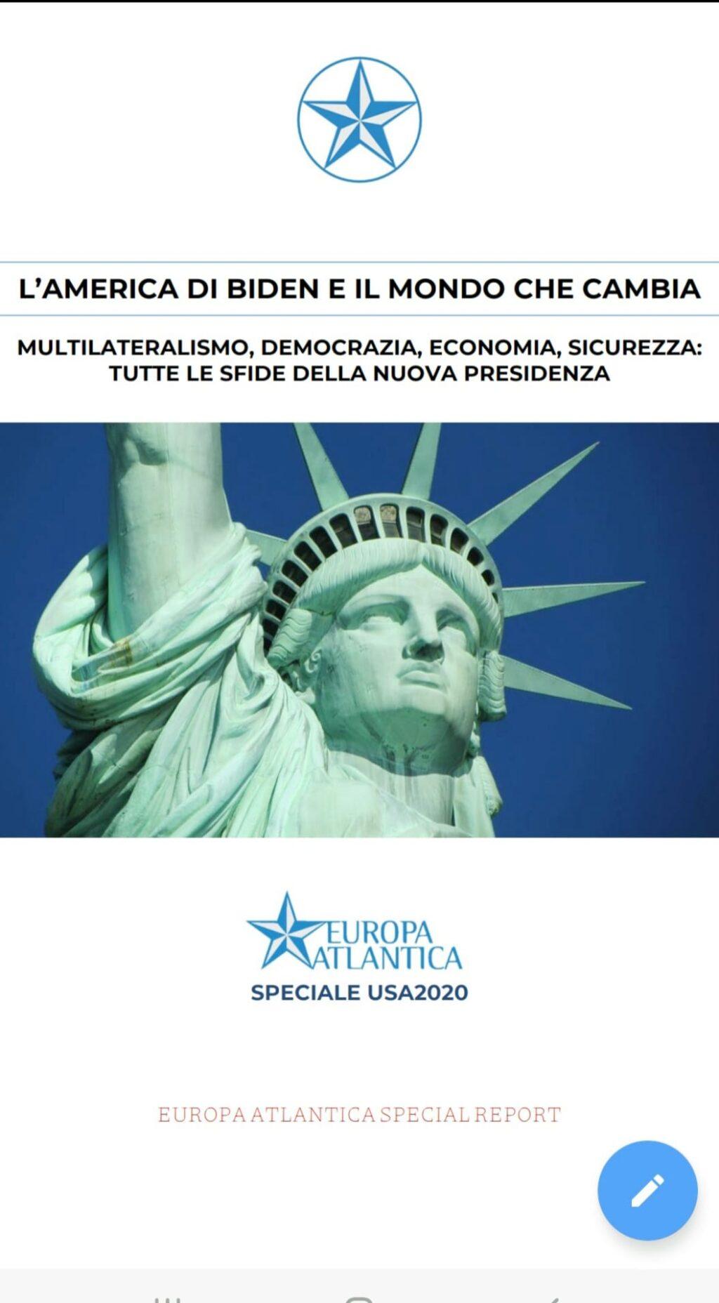 Europa Atlantica Speciale USA2020: analisi di un risultato storico